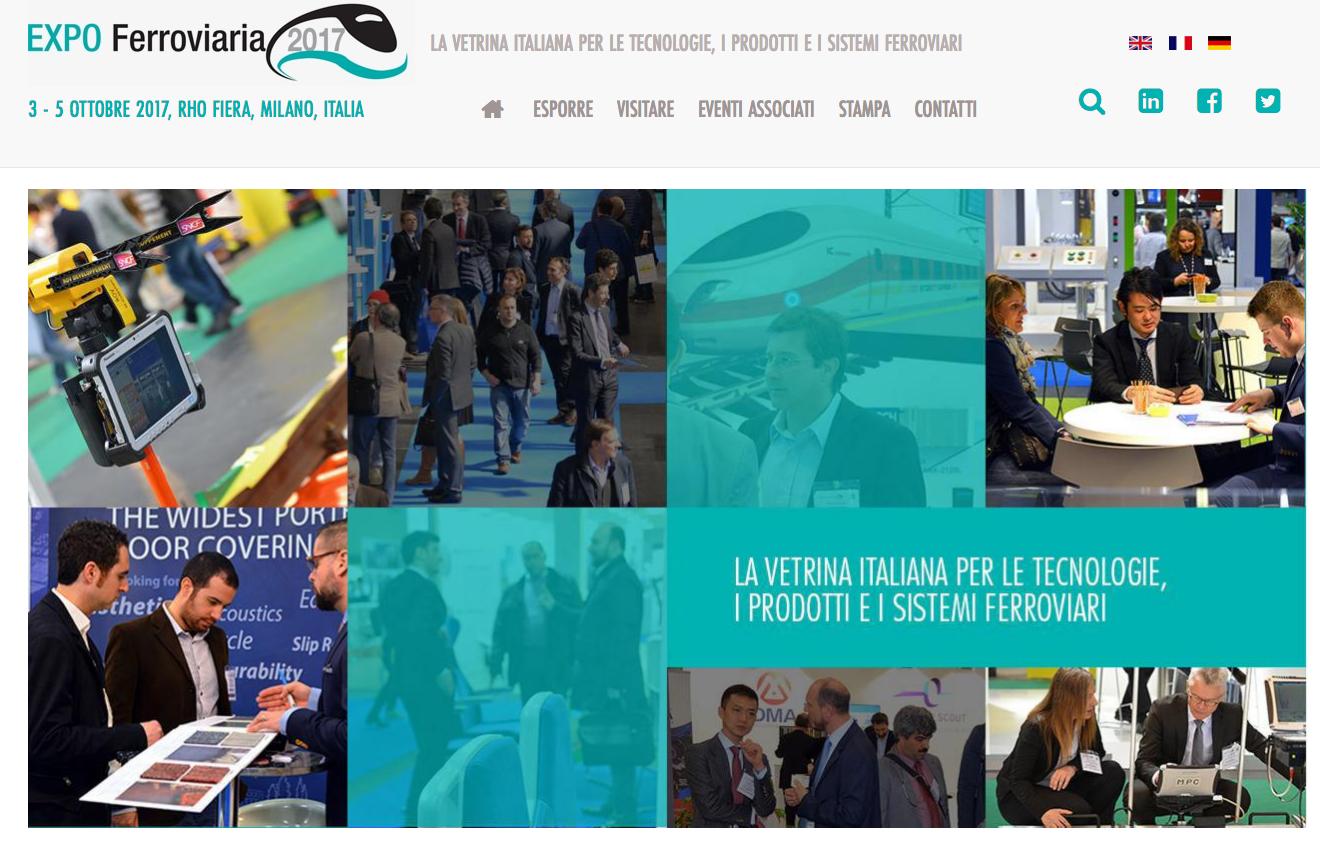 Fiera di milano expo ferroviaria 2017 assotech bologna for Expo milano 2017